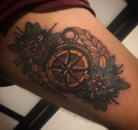 Tattoos - Compass Tattoo - 136168