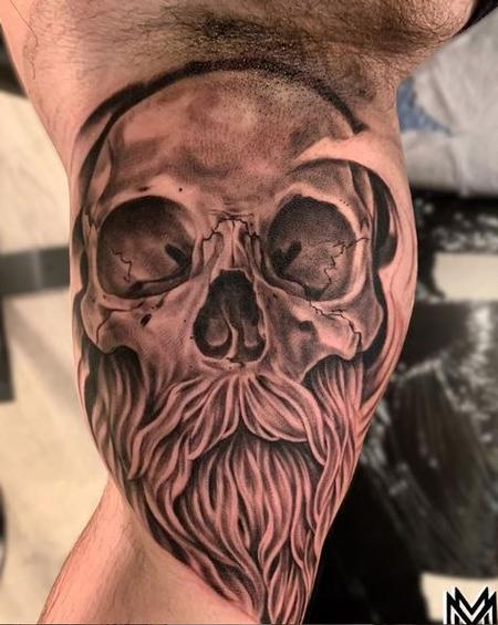 Tattoos - Matt Morrison bearded skull - 138859