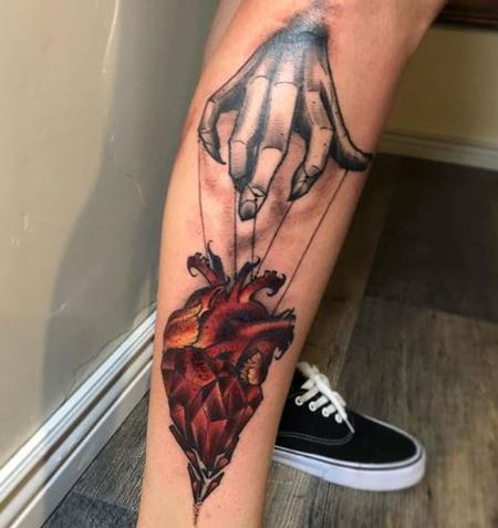Tattoos - Billy Williams Heart and Hand - 139863