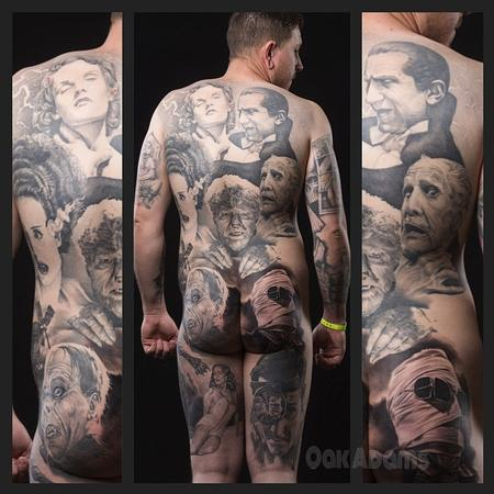 Tattoos - Classic Horror Movie Portraits Bodysuit Tattoo - 134557