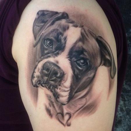 Oak Adams - Dog Portrait Tattoo