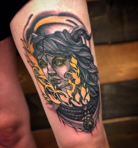 Color Portrait Tattoo