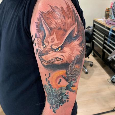 Wolf Link and Minda Tattoo Design Thumbnail