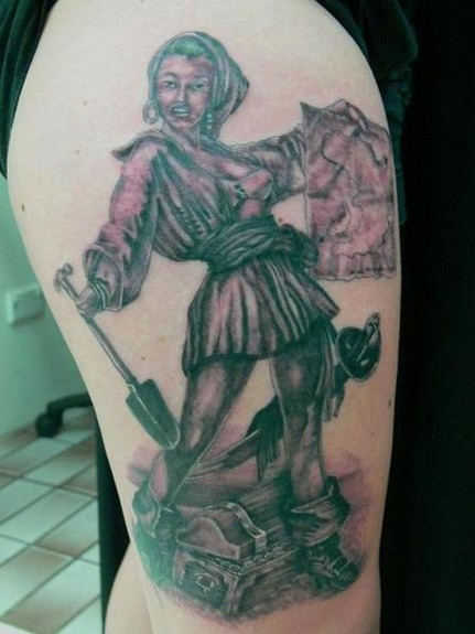 Tattoos - Pirate Girl Tattoo - 49549