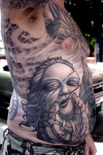 Paul Booth - Severed head tattoo