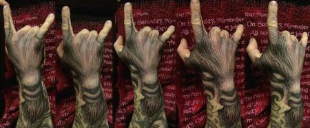 1881782e8 Tattoo Education : Tattoos : Paul Booth : Throw the Horns!