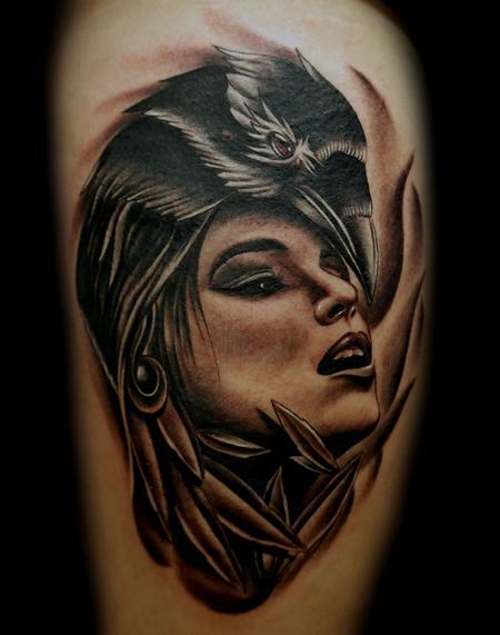 Tattoos - Raven Girl - 71141