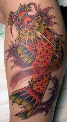 Tattoos - dragon koi - 21988