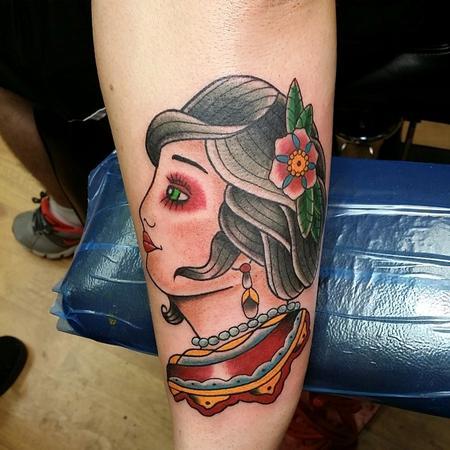 Tattoos - Girl head - 94417