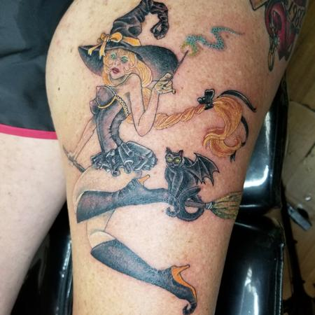 Tattoos - Pin up witch  - 140418