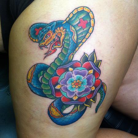 Tattoos - Snakebite - 76727