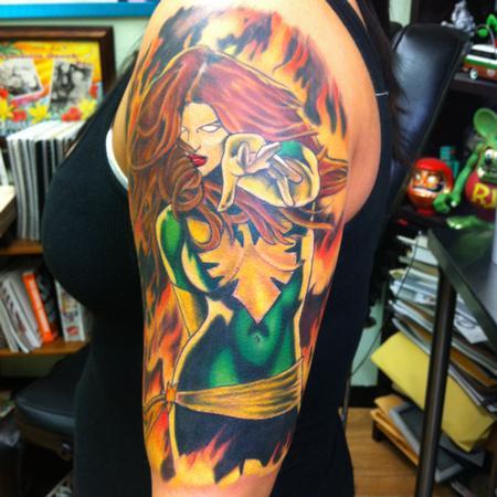 Tattoos - Phoenix character  - 76725