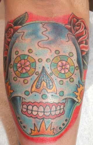 Tattoos - sugar skull - 21977