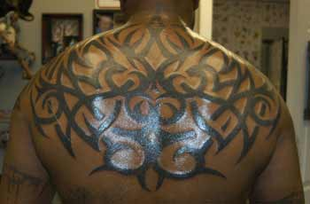 Tattoos - tribal back - 21999