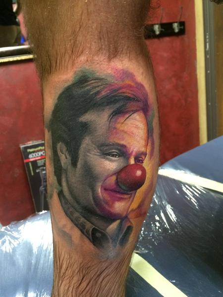 Tattoos - Robin Williams patch Adams  - 94958