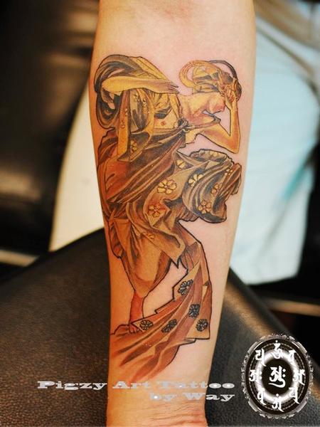 Tattoos - Custom Girl Tattoo - 60506