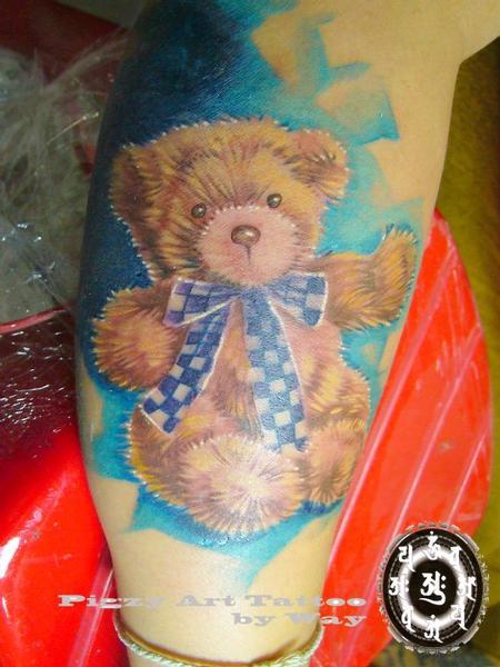 Tattoos - Color Teddy Bear Tattoo - 60507
