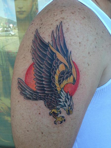 Tattoos - eagle tattoo - 93626