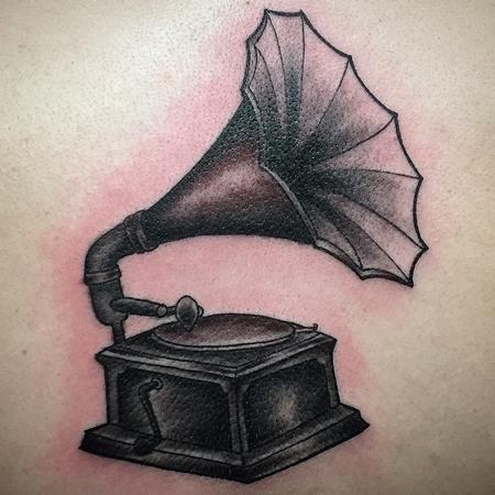 Pineapple  - phonograph tattoo