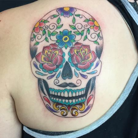 Tattoos - Rose Eye Sugar Skull - 111768