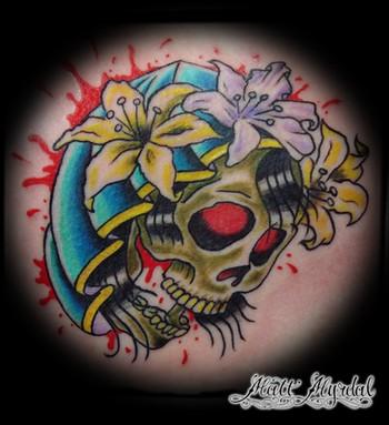 Tattoos - Hooded Skull  - 43506