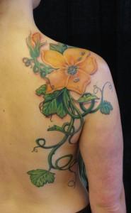 Tattoos - pumpkin flower - 68230