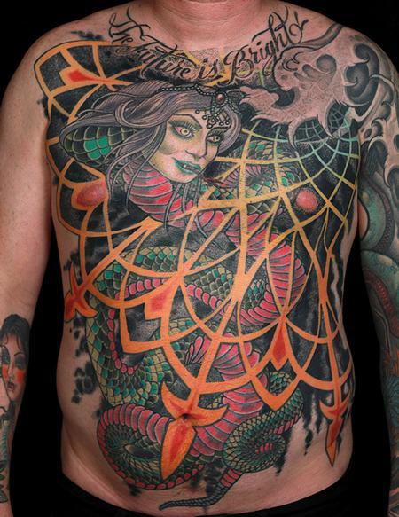 Tattoos - Snake Lady Torso - 128060