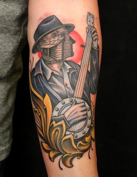 Tattoos - Banjo guy - 94270