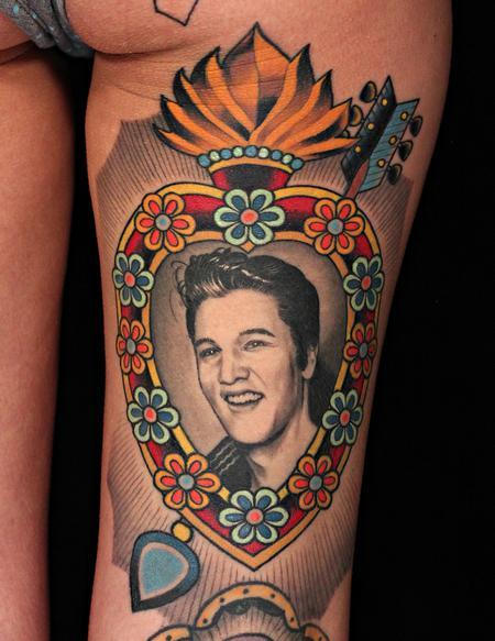 Tattoos - Elvis Heart - 109116