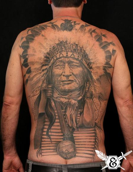 Tattoos - Native American Chief - 70054