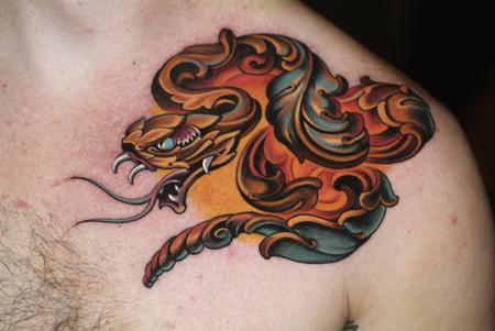 Tattoos - ornamental snake - 96376