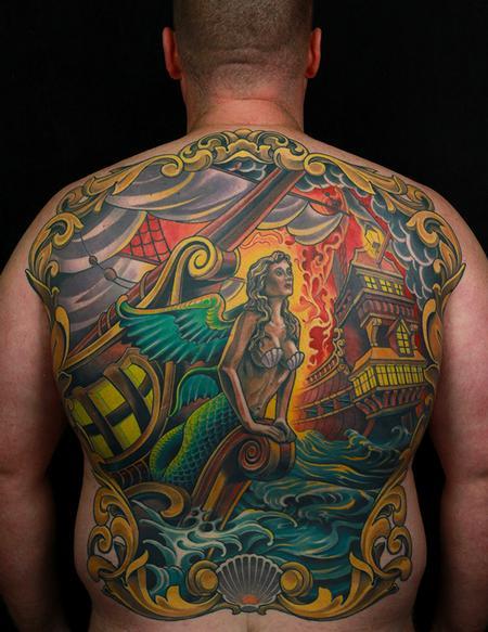 Tattoos - Sea Battle Backpiece - 128062