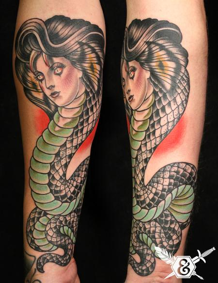 Tattoos - Cobra lady - 70091