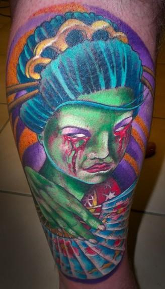 Tattoos - Zombie Geisha Girl - 50757