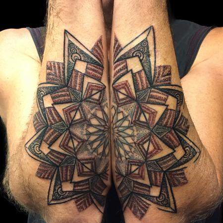 Tattoos - Mandala on Forearms  - 126950