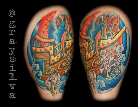 Tattoos - Pirate ship - 122758
