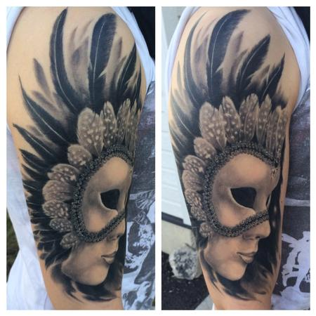 Tattoos - Venetian mask (Healed) - 91786