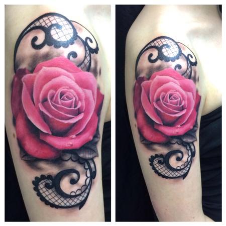 Tattoos - Pink Rose (Fresh) - 91784