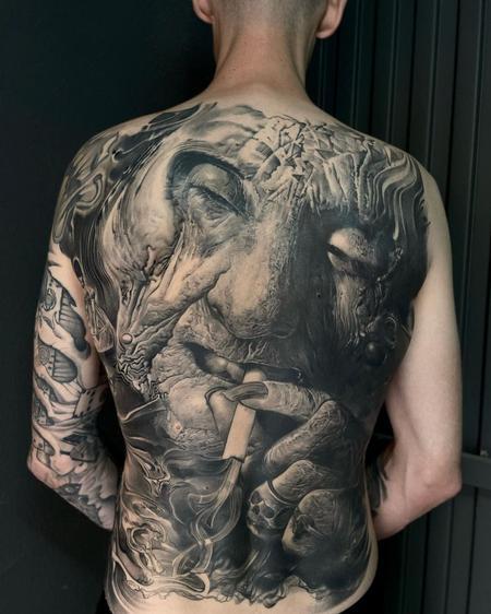 Jean Backpiece Tattoo Design Thumbnail