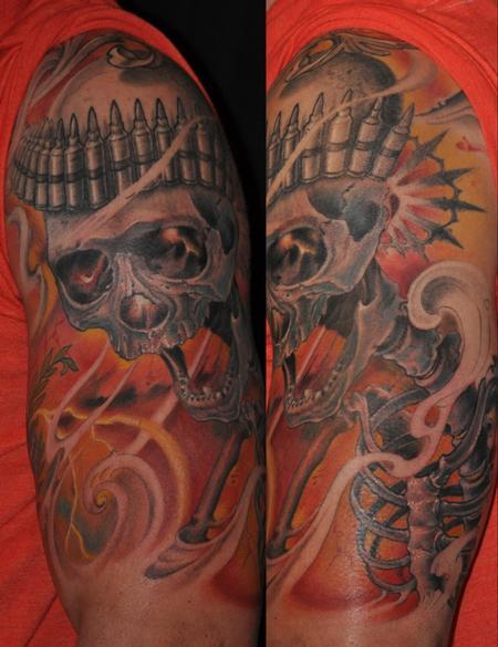 Tattoos - skull of war - 89214