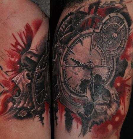 Tattoos - Clock and gears of death - 89215