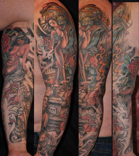 Tattoos - Lots of geishas sleeve - 91733