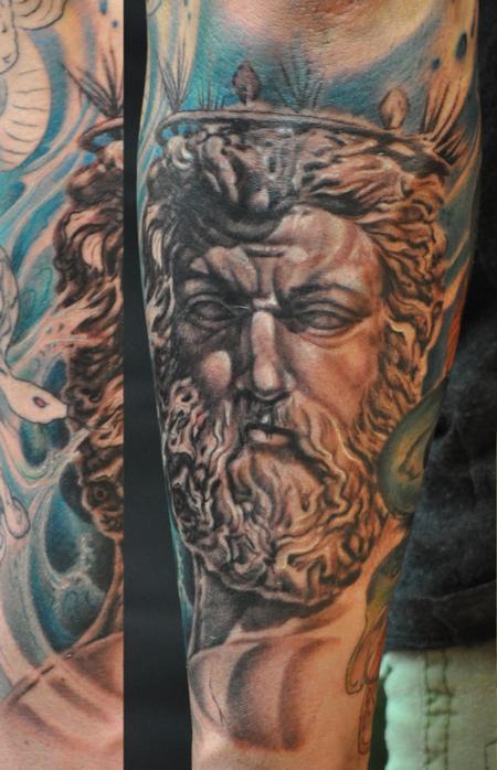 Tattoos - Poseidon statue  - 91176