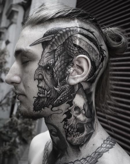 Tattoos - Face Devil - 141424