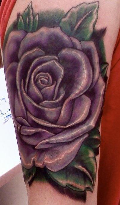 Tattoos - Purple Rose Tattoo - 59236