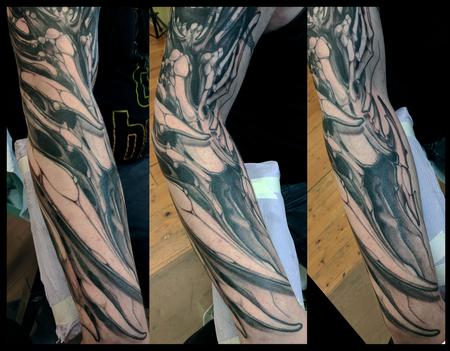 Tattoos - Bone Forearm Sleeve Tattoo - 140252