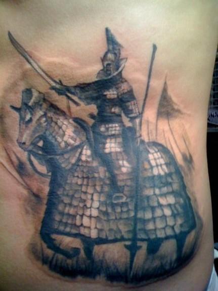 Tattoos - Horse and Knight Tattoo - 52350