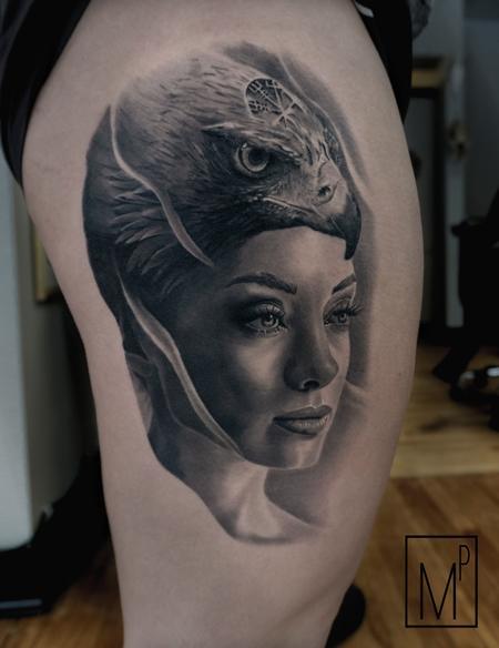 Tattoos - head dress portrait - 133207