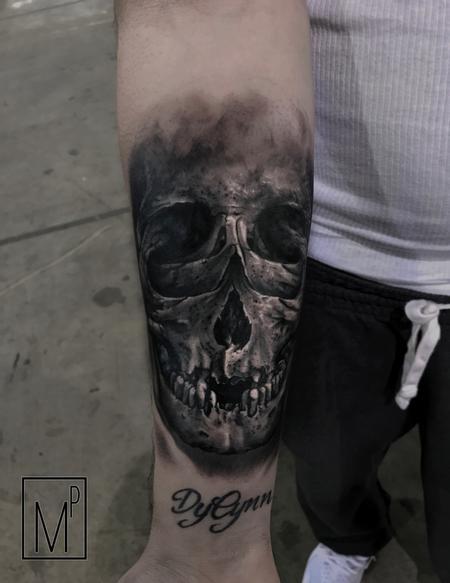 Tattoos - double exposure skull - 133209