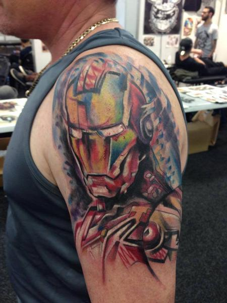 Tattoos - Abstract Iron Man - 108934